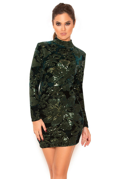 Larena Hand Embellished Sequin Dress