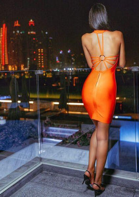 Carenza Open Back Bandage dress