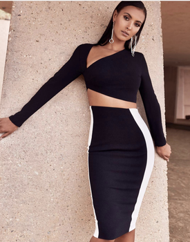 Jolly Black White Curvy two piece