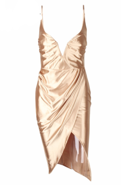 Glam Gold Mini Dress Miami Styles Party Outfit Fashion Miami Styles