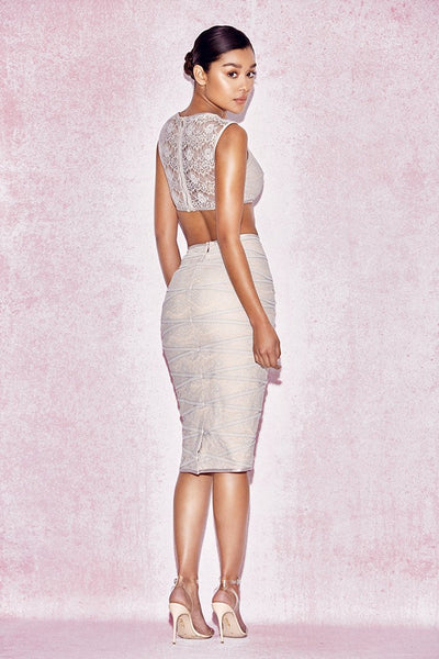 Grayce Lace Two Piece Elegant Club Wear