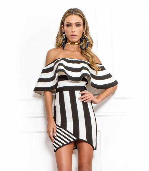 Black & White Viola Mini Dress