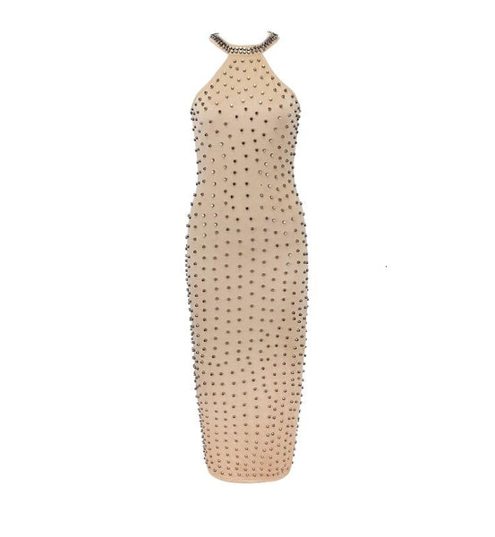Zuma Extravagant Metal Beading SLEEVELESS Dress