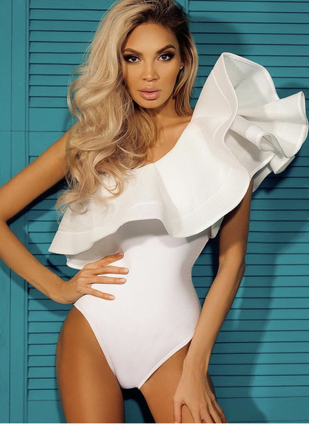 Glamour Off Shoulder Bodysuit & Monokini in 3 colors