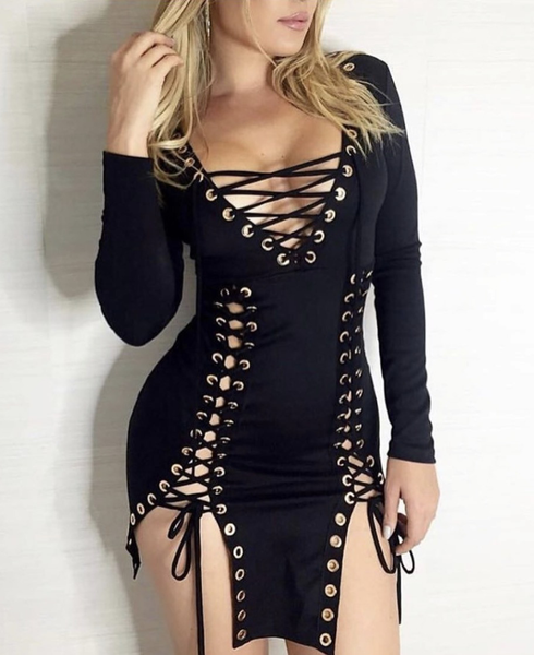 Luxury Lace Giorgia Hot Mini Dress