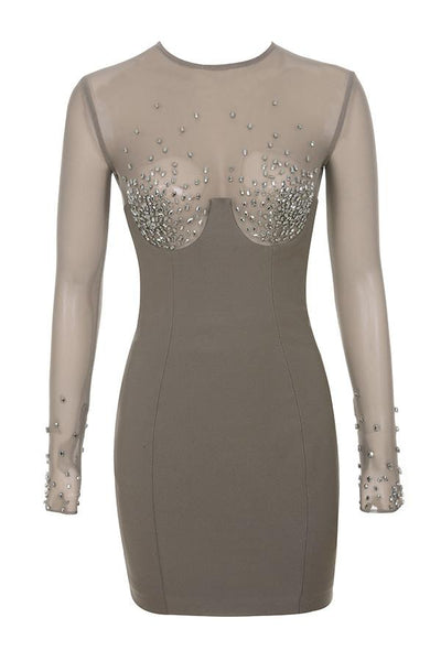 Miranda luxury crystal embellished mini dress