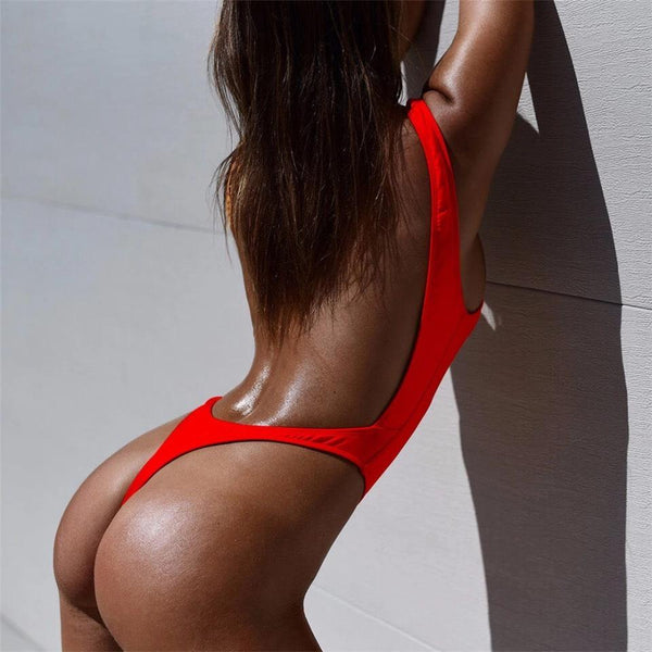 Sexy High Cut Thong One-piece