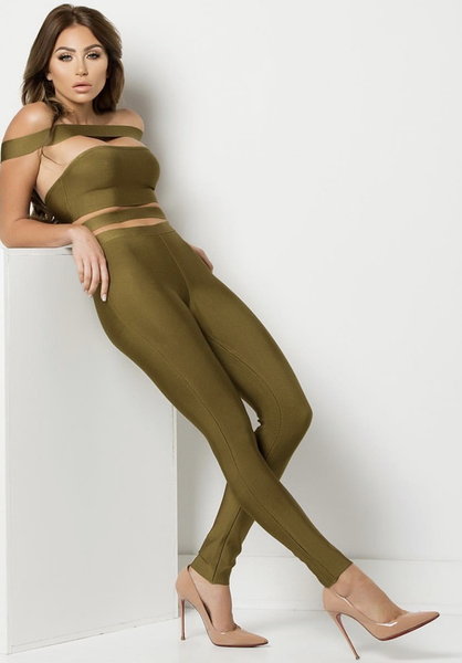 Bad Gal Bandage Cut Out Jumpsuit