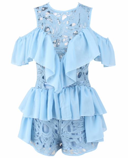 Nella Blue Glamour Playsuit LL