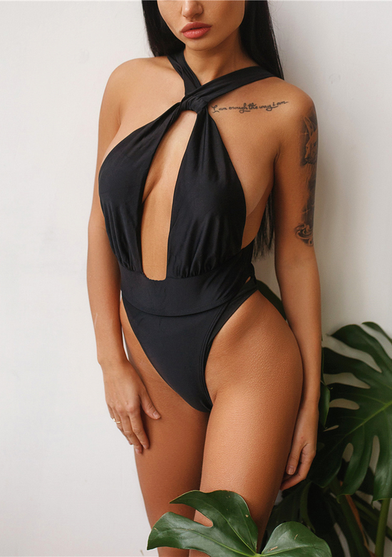 Plunging Glam One Piece