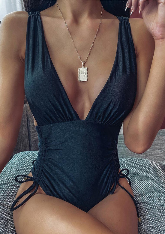 Deep V Neck Glamour On Piece