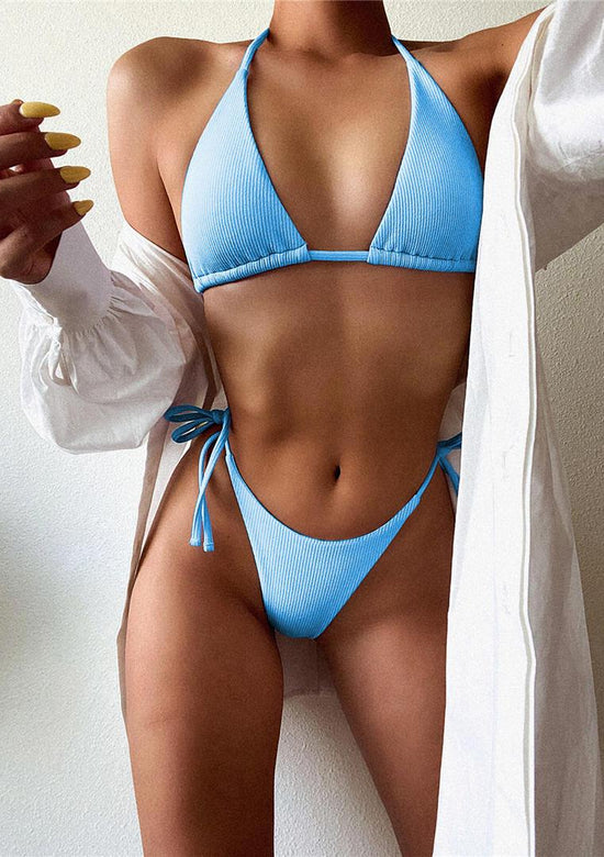Ribbed Pastel Thing Bikini