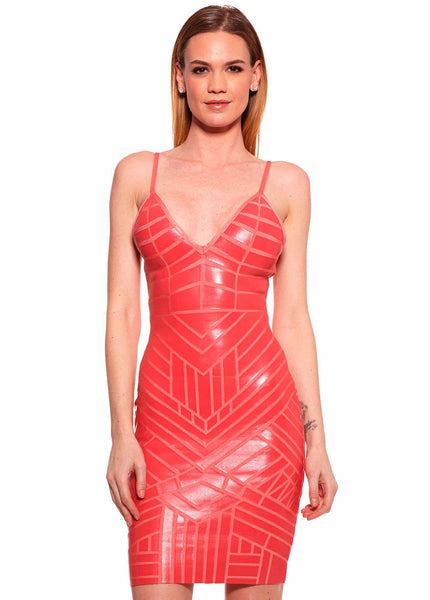 Bodycon leather effect Bandage Dress