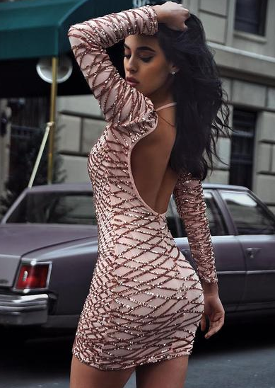 Glamour sexy dress bodycon dress |  Fashion Miami Styles