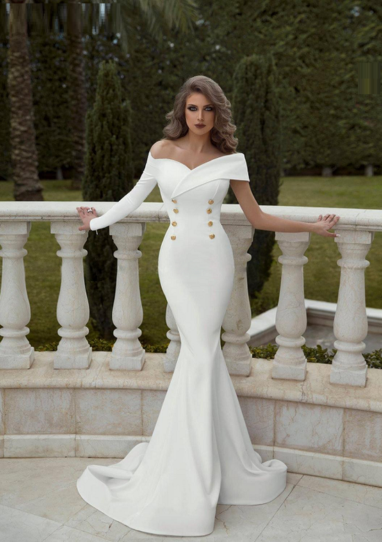 Hanna White Elegant Dress
