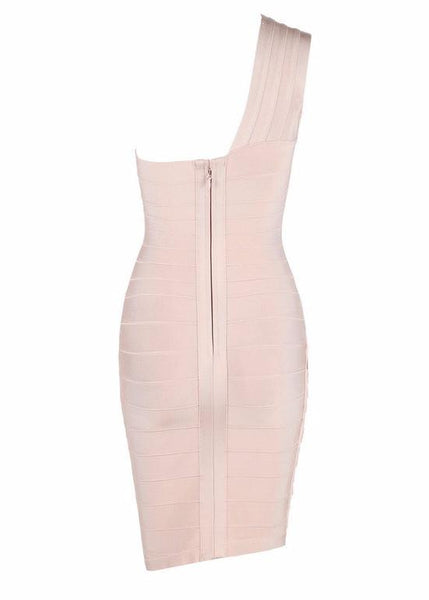 Nude Bodycon Studded Bandage Dress