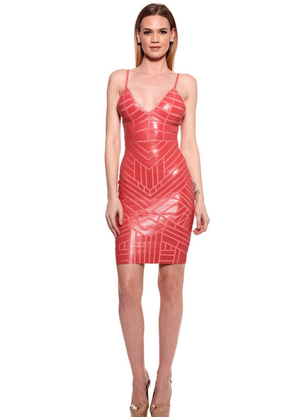 Bodycon leather effect Dress