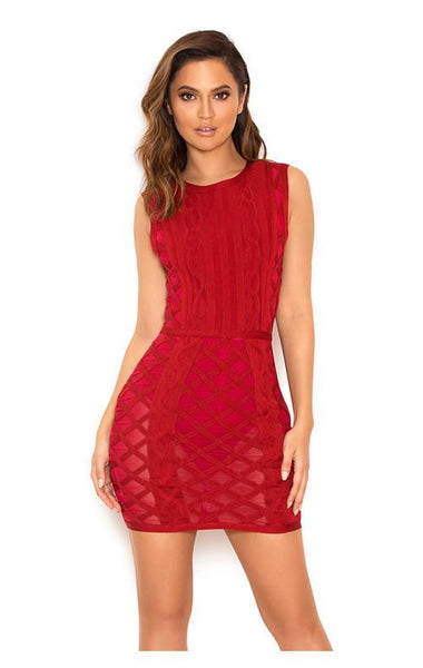 Sexy Red Club Dress Fashion