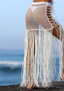 Flowing Tassel Cover Up