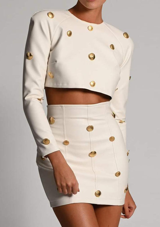 Betty Buttons Vegan Leather Two Piece Set