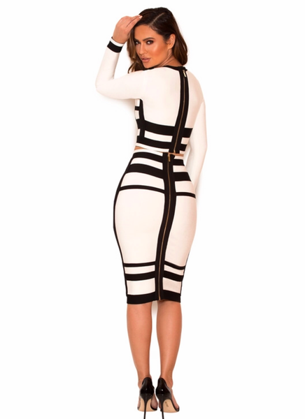 CELEBRITY STYLES LAUREN BANDAGE TWO-PIECE