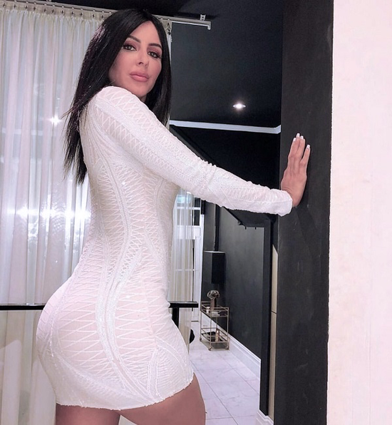 Anna Long Sleeve White Mini Dress
