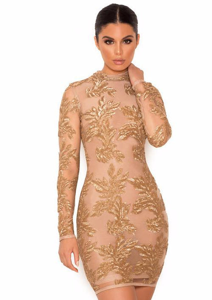 Astrae Luxury Gold Sexy Dress