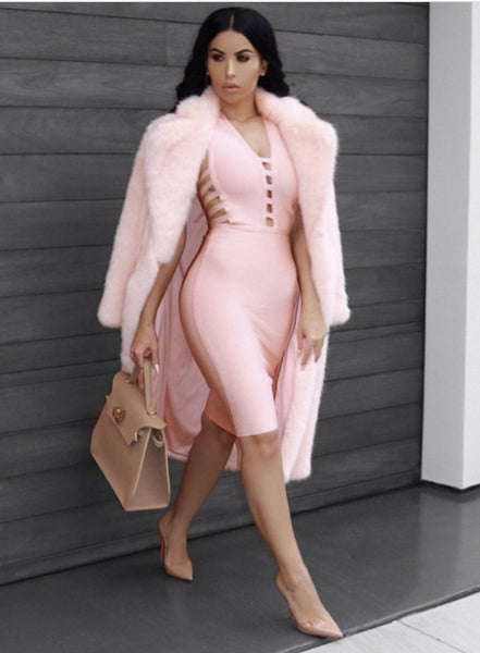 Miranda Pink Super Sexy Clubwear Dress | Fashion Miami Styles