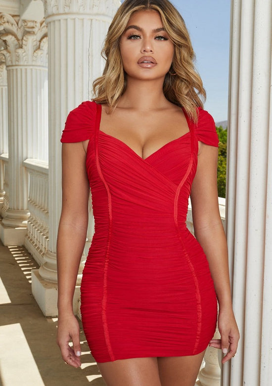Kara Red Hot Mini Dress