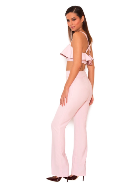 Valentina Light Stretch Crepe Two Piece Trouser Set Miami Party outfits, sexy dresses, celebrity style dress