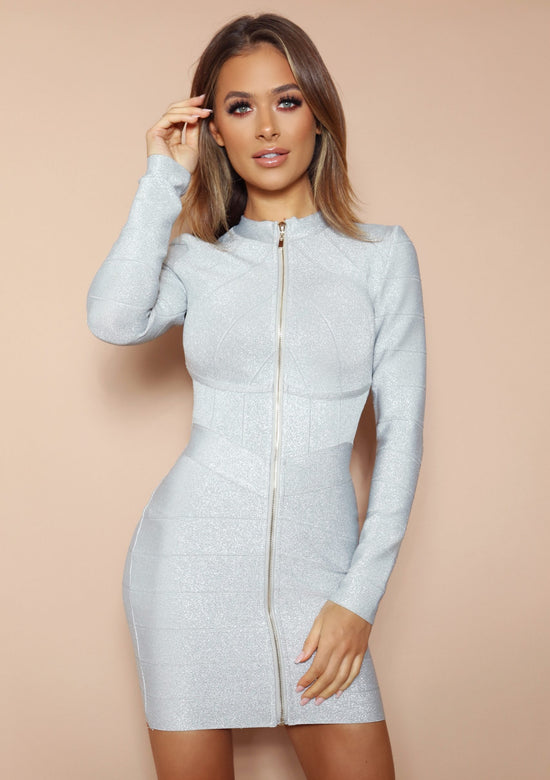 Leena Light Grey Mini Dress