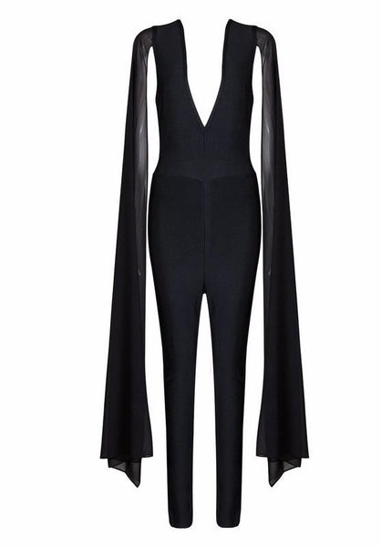 bef2d4a171a Black Flowing Long Sleeve Jumpsuit