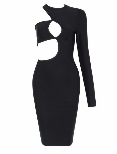 Chrissy Sexy Black Women Dress