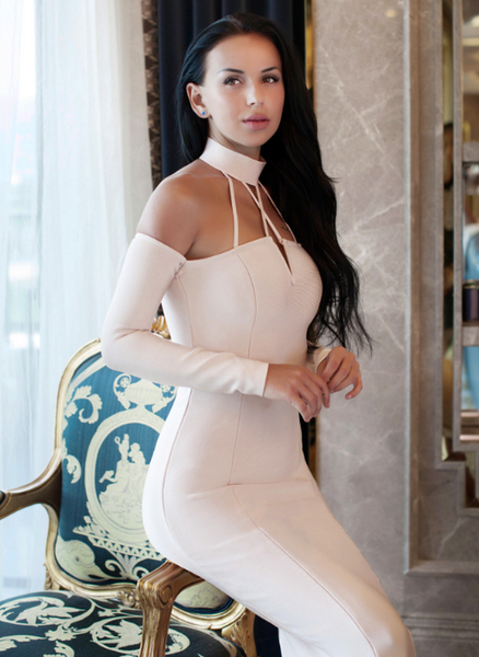 Bandage Mesh Bodycon dress Body con dresses Celebrity Style sexy dress