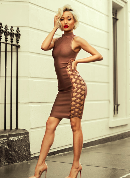 Sexy Lace Up Bandage Bodycon Dress | Fashion Miami Styles