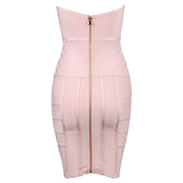 Cute Pink Bandage Dress