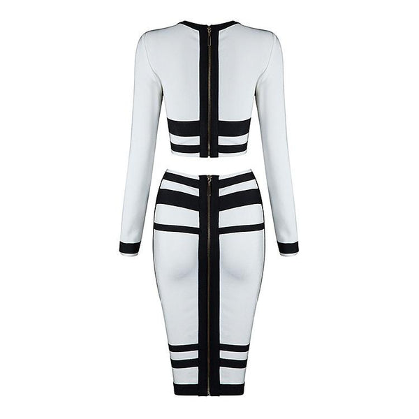 CELEBRITY STYLES BANDAGE TWO-PIECE DRESS,MIAMI DESIGNER WOMEN APPAREL. Sexy Hot Party Outfit, Miami Dresses, Fashion Designer Hot Styles Date Elegant Dresses.