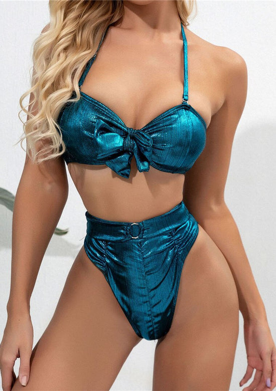 Shimmer Ocean High Waisted Bikini