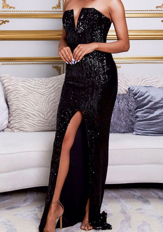Lola Elegant Sequin Evening Gown
