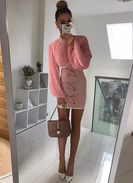 Damara Pink Mini dress