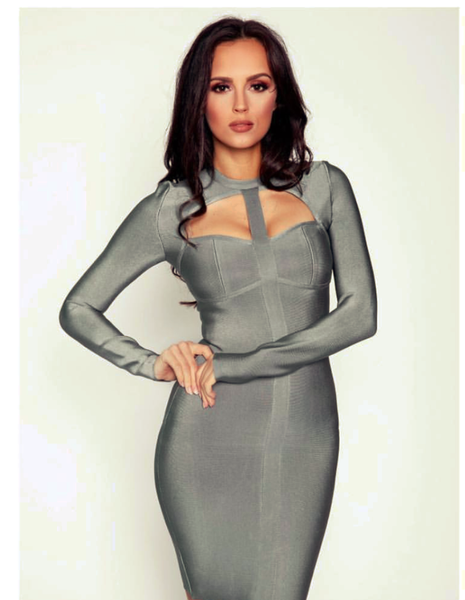 Blue Bandage Bodycon Dress Styles