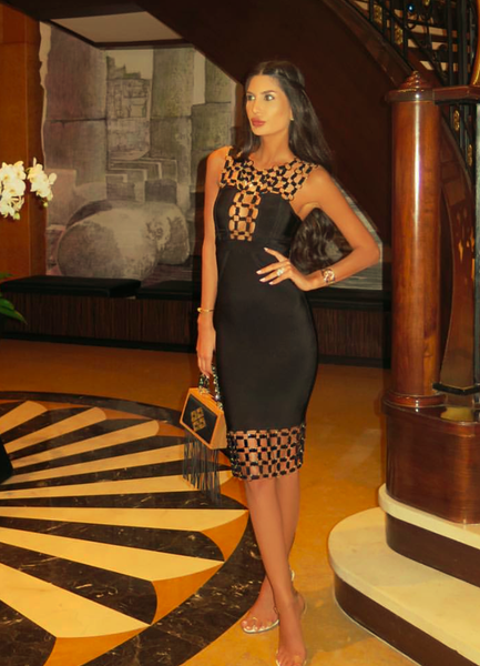 Black bandage bodycon dresses Styles
