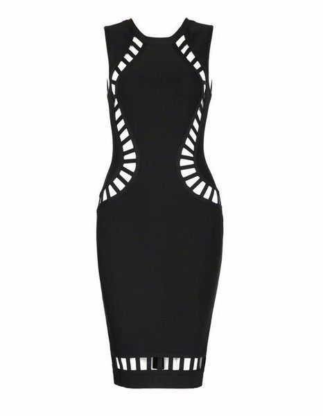 Sexy Black Birthday Bandage Dress