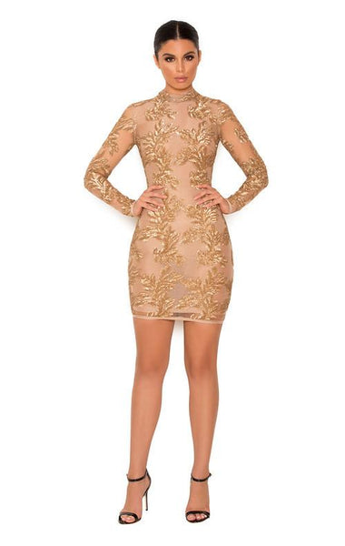 Astrae Luxury Gold Sexy Dress Fashion Styles