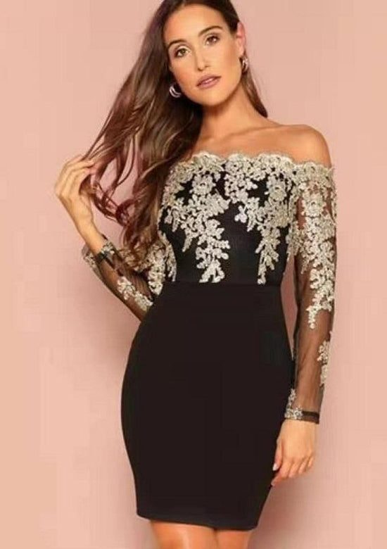 Laura Mesh And Lace Elegant Dress