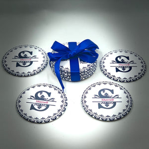 Monogram  - Button Pin/Coaster