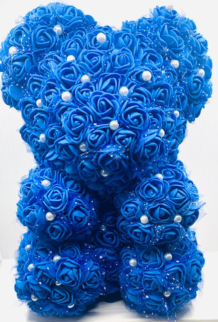BAB - Royal Blue w/Pearls Artificial Flower Animal