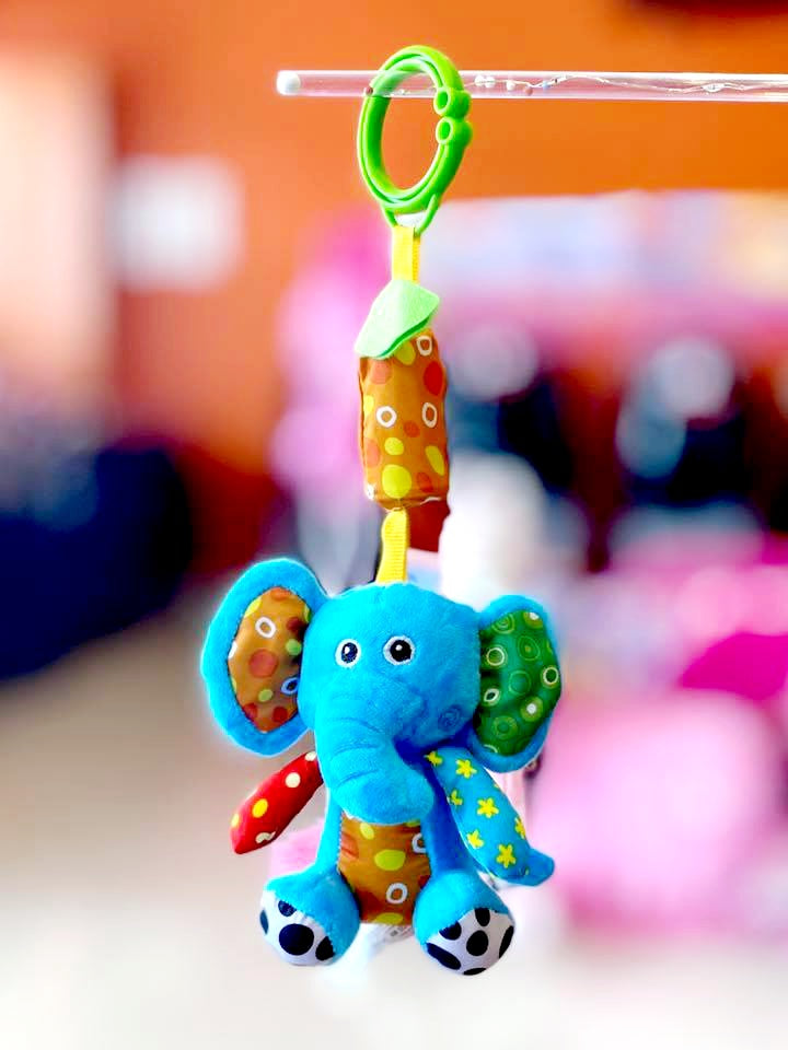 Stuff Toy Rattle Elephant 6""