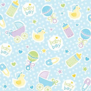 Baby Girl Boy Gift Wrap w/Tag