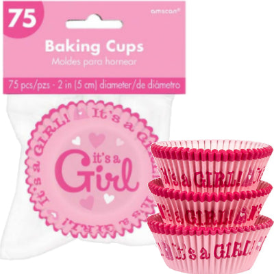 Baby Girl Cupcake Cases